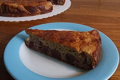 Quark-Kirsch-Kuchen mit Haferflocken