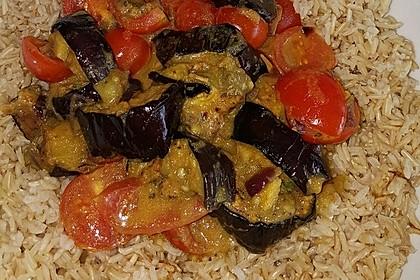 Auberginen-Curry mit Joghurtsauce 7