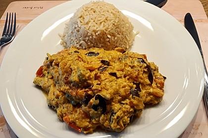 Auberginen-Curry mit Joghurtsauce 9