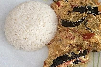 Auberginen-Curry mit Joghurtsauce 21