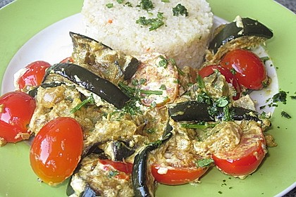 Auberginen-Curry mit Joghurtsauce 16