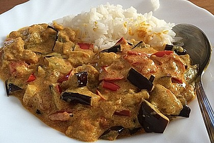 Auberginen-Curry mit Joghurtsauce 6