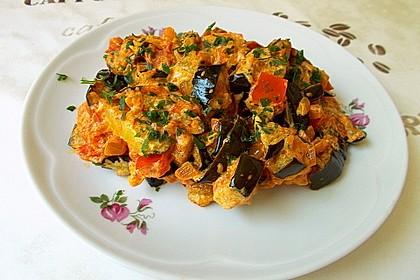 Auberginen-Curry mit Joghurtsauce 5