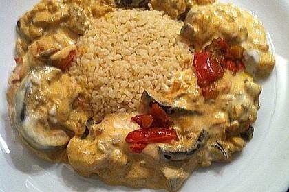 Auberginen-Curry mit Joghurtsauce 13