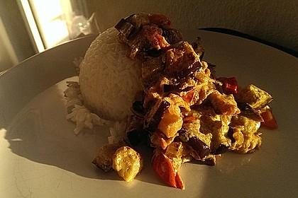 Auberginen-Curry mit Joghurtsauce 17