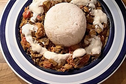 Auberginen-Curry mit Joghurtsauce 14
