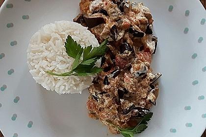 Auberginen-Curry mit Joghurtsauce 8