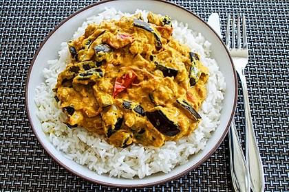 Auberginen-Curry mit Joghurtsauce 2