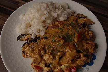 Auberginen-Curry mit Joghurtsauce 19
