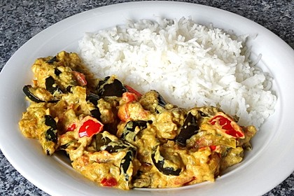 Auberginen-Curry mit Joghurtsauce 4