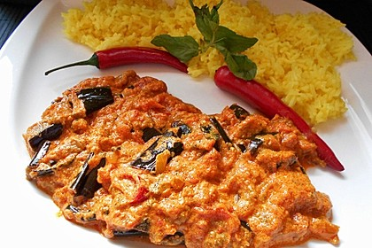 Auberginen-Curry mit Joghurtsauce 3