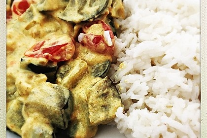 Auberginen-Curry mit Joghurtsauce 25