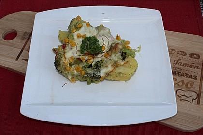 Überbackener Kartoffel-Brokkoliauflauf 1
