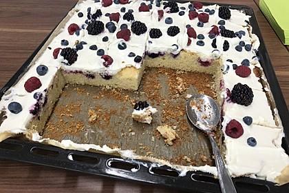 Beeren-Joghurtkuchen mit Frischkäse-Topping 2