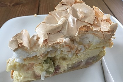 Rhabarber - Quark - Kuchen unter Baiserhaube 10