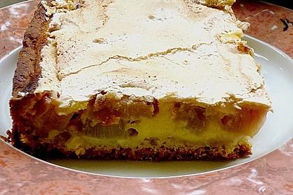 Rhabarber - Quark - Kuchen unter Baiserhaube 19