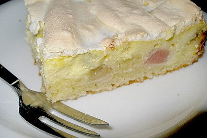 Rhabarber - Quark - Kuchen unter Baiserhaube 5