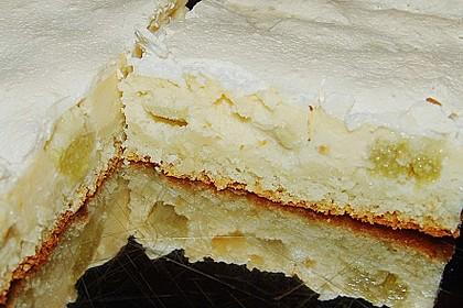 Rhabarber - Quark - Kuchen unter Baiserhaube 8