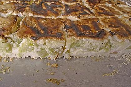 Rhabarber - Quark - Kuchen unter Baiserhaube 18