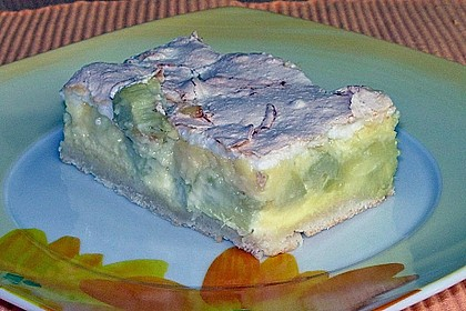 Rhabarber - Quark - Kuchen unter Baiserhaube 12
