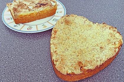 Rhabarber - Quark - Kuchen unter Baiserhaube 16