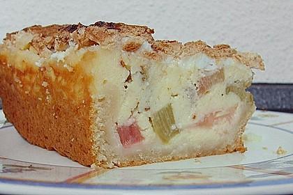 Rhabarber - Quark - Kuchen unter Baiserhaube 13