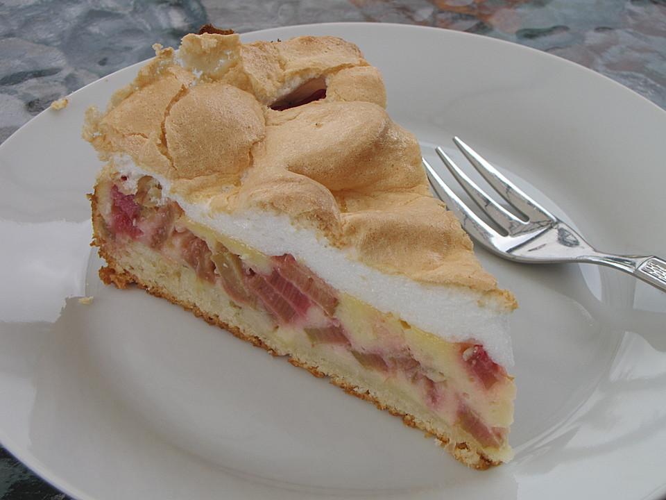 Rhabarber Quark Kuchen Unter Baiserhaube Von Stellina2001