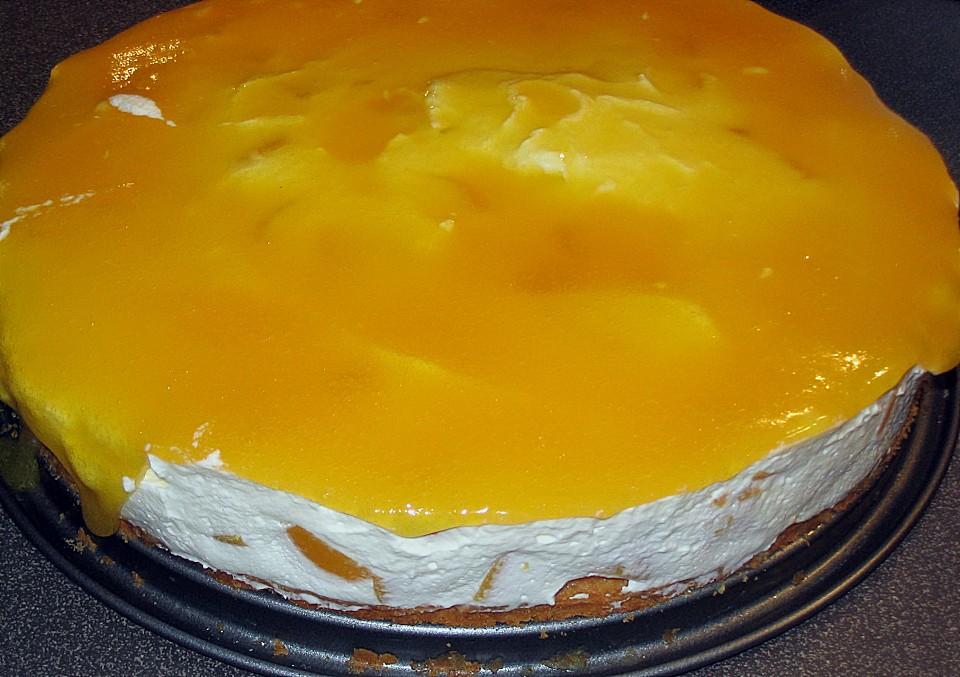 Schnelle Pfirsich Sahne Torte Von Zauberin4 Chefkoch De