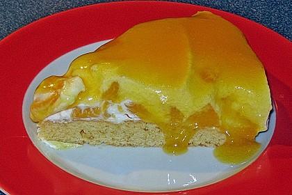 Schnelle Pfirsich - Sahne Torte 3