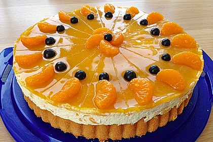 Schnelle Pfirsich - Sahne Torte
