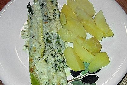 Spargel überbacken mit Ziegenricotta 1