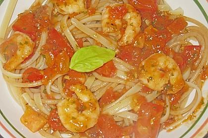 Schwarze Spaghetti mit Scampisugo 12