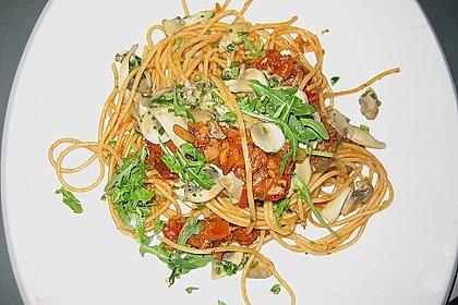 Schwarze Spaghetti mit Scampisugo 9