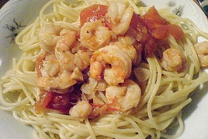 Schwarze Spaghetti mit Scampisugo 15