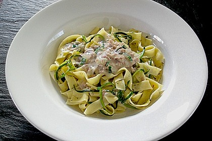 Zucchini - Thunfischpasta