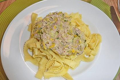 Zucchini - Thunfischpasta 4