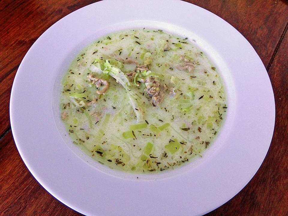 Hack-Käse-Porree-Suppe von ulkig | Chefkoch