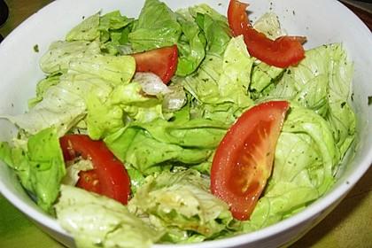 Grüner Salat mit Sahnesauce 5