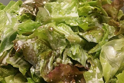 Grüner Salat mit Sahnesauce 6