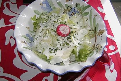 Grüner Salat mit Sahnesauce 3