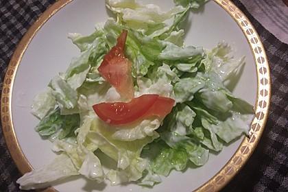 Grüner Salat mit Sahnesauce 4