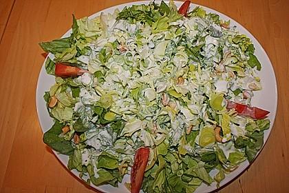 Grüner Salat mit Sahnesauce 7