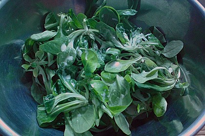 Grüner Salat mit Sahnesauce 10