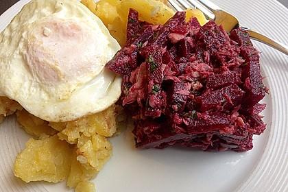 Thunfisch-Rote Bete-Salat mit Petersilie oder jungem Giersch 1