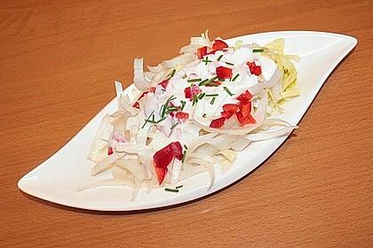 Chicoréesalat mit Meerrettichdressing