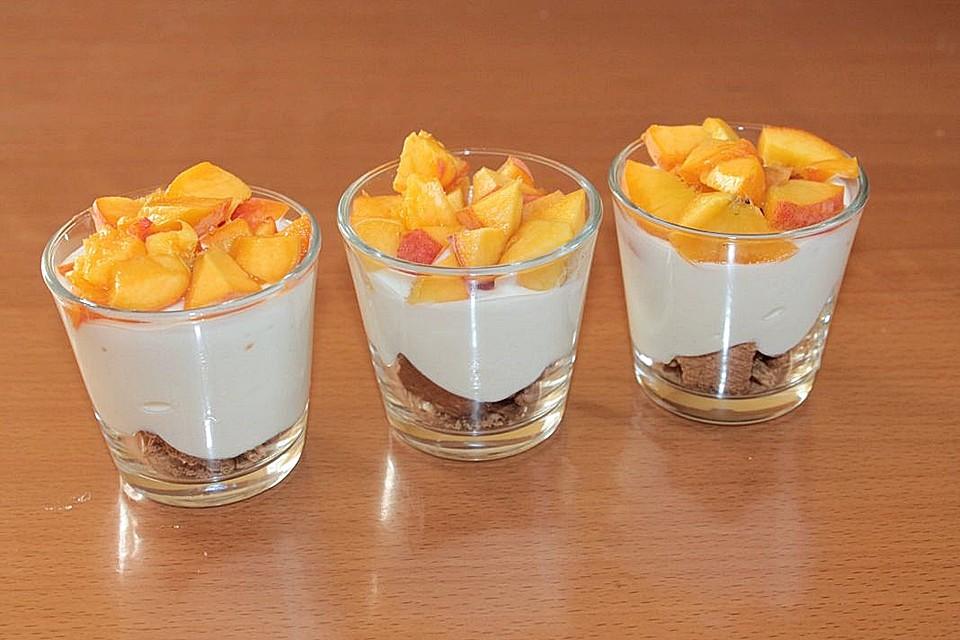 Pfirsich Dessert