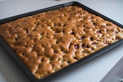 Schneller Erdbeer-Rhabarberkuchen (Bild)
