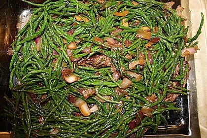 Bisonsteak mit Salicorne
