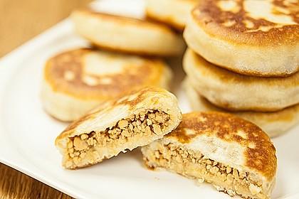 Erdnuss Baos – süße gebratene Erdnuss-Teigtaschen