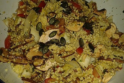 Lauwarmer Hirse-Salat